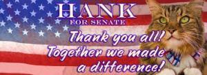 Vote fur Hank! photo: Google Images
